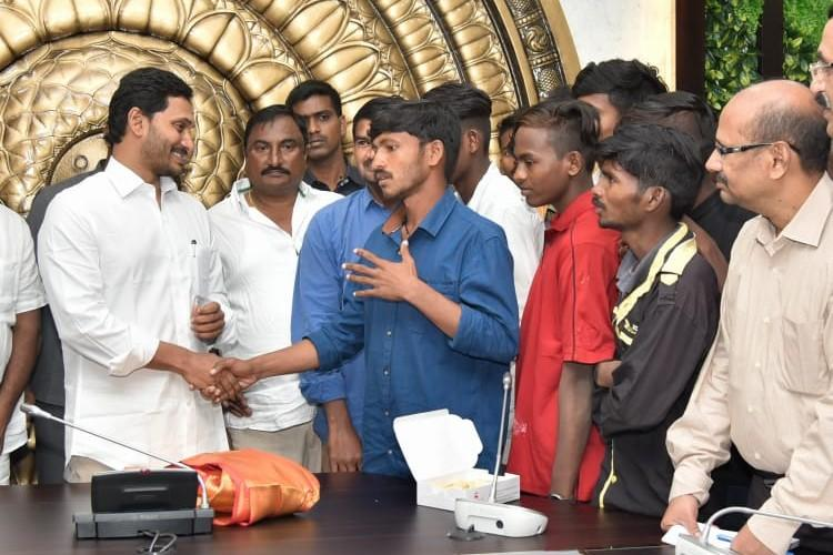 Andhra fishermen released from Pakistan meet CM Jagan discuss reasons for migration