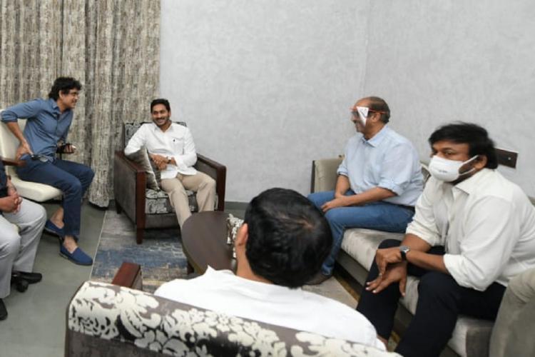 Representatives of Tollywood meet Andhra Chief Minister Jagan Mohan Reddy