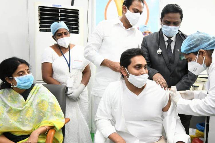 Andhra CM Jagan takes COVID-19 vaccine as 45 become eligible