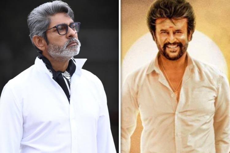 Actor Jagapathi Babu in the left and actor Rajinikanth from the poster of Annaatthe on the right