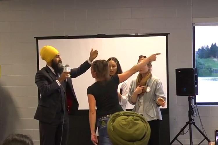 Dont want to be intimidated by hate Sikh Canadian politician handles racist heckler like a boss