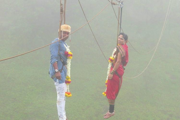 Maharashtra couple marry mid-air- 600-feet above valley