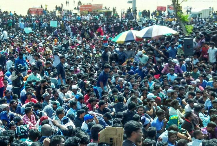 This is a student movement Fight for jallikattu being led by Tamil Nadus youth