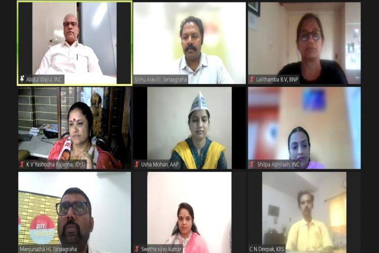 The virtual panel discussion hosted by Janaagraha