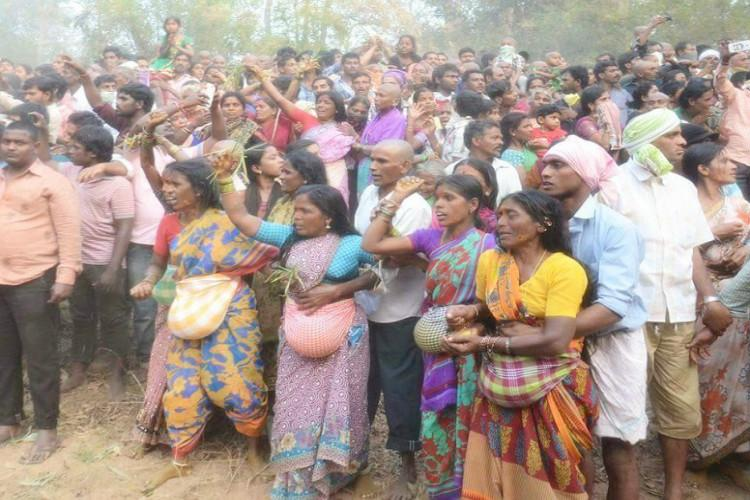 Pictures from the second largest tribal festival in the world that began at Warangal