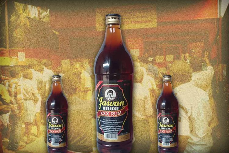 three bottles of Jawan XXX Rum