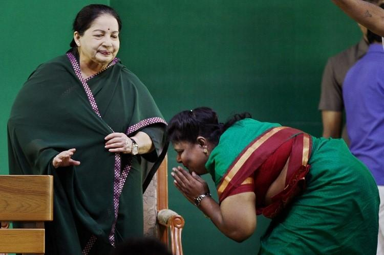 Jayalalithaa well talks briefly with speakers Prathap Reddy