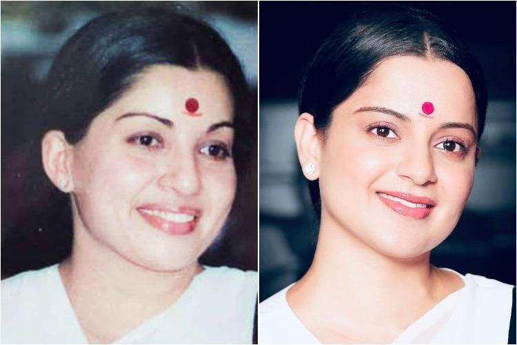 Kanganas no-prosthetic look as Jayalalithaa from Thalaivi released