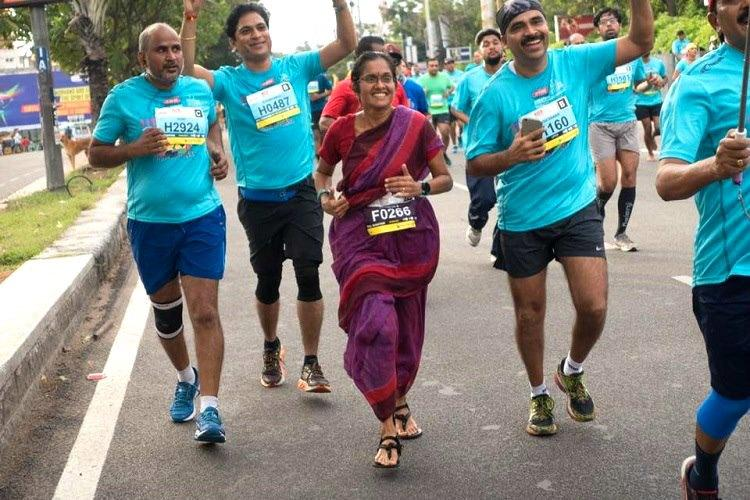 42 km in 9 yards: Meet the Hyderabad woman who ran a marathon in a