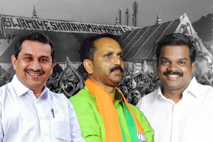 A collage of the candidates contesting from Konni constituency