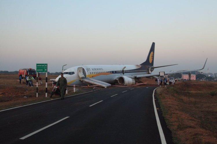 Jet Airways plane skids off runway at Goas Dabolim airport few injured