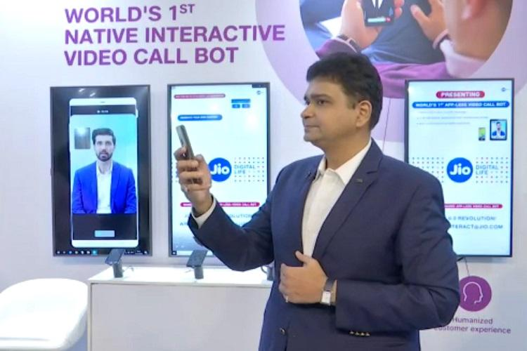 Image result for Reliance Jio unveiled an AI based Video Call Assistant (Bot) at <a class='inner-topic-link' href='/search/topic?searchType=search&searchTerm=INDIA' target='_blank' title='india-Latest Updates, Photos, Videos are a click away, CLICK NOW'></div>india</a> <a class='inner-topic-link' href='/search/topic?searchType=search&searchTerm=SAMSUNG' target='_blank' title='mobile-Latest Updates, Photos, Videos are a click away, CLICK NOW'>mobile</a> Congress (IMC) 2019