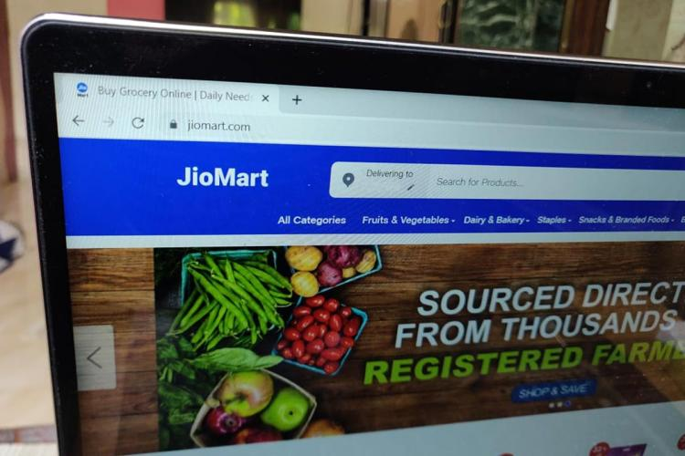 JioMart website to order groceries from