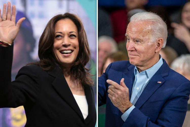 Former Vice President Joe Biden and California Senator Kamala Harris