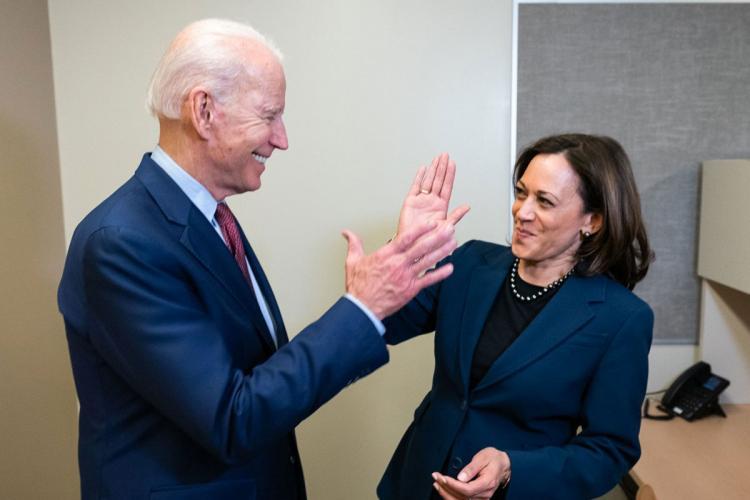 File photo of Joe Biden and Kamala Harris