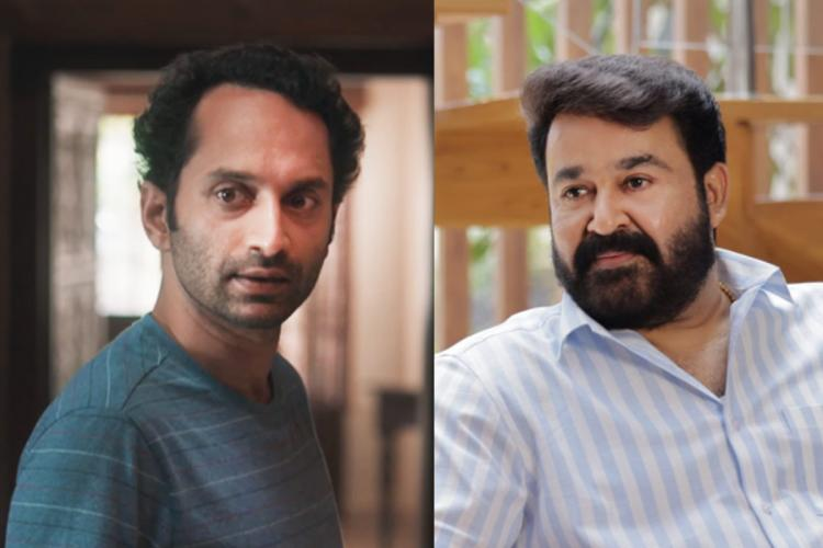 From left: Fahadh Faasil in 'Joji' and Mohanlal in 'Drishyam 2'