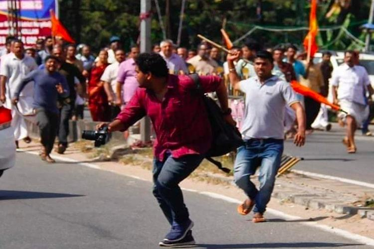 Angered over attack on media persons Kerala journalists boycott BJP pressers