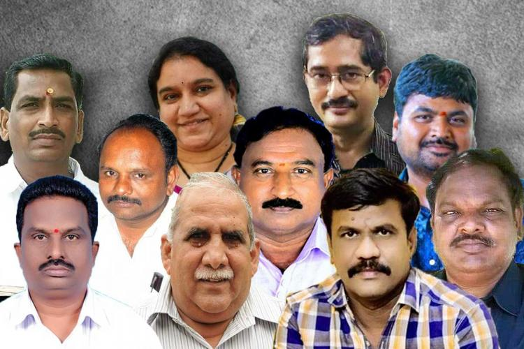 A collage of journalists who died following infection of COVID19