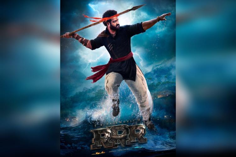 Jr NTR is seen in an intense avatar as Komaram Bheem in new poster from RRR