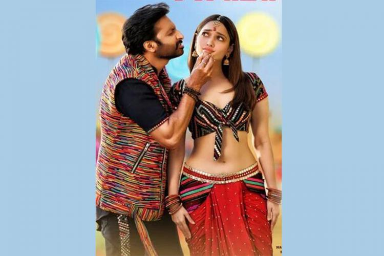 Actors Gopichand and Tamannaah are seen wearing indo-western outifts and dancing to the folk number Jwala Reddy
