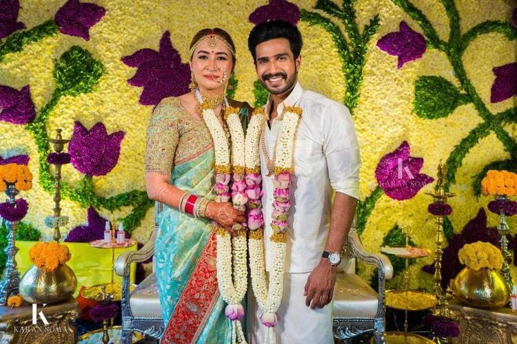 Jwala Gutta and Vishnu Vishal at their wedding ceremony