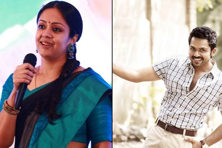 Jyothika and Karthis film with Jeethu Joseph starts rolling