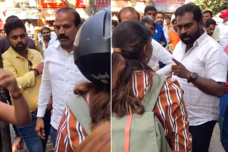BJP workers heckle Bengaluru students for opposing pro-CAA banner students fight back