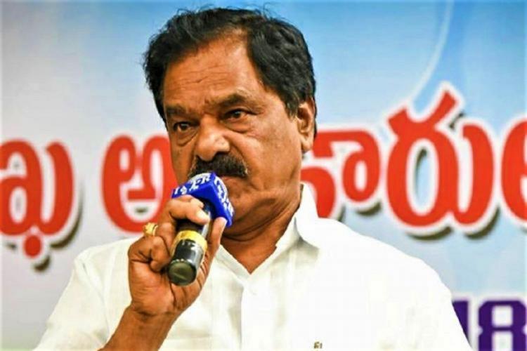 Andhra Deputy Chief Minister K Narayanaswamy addresses a meeting