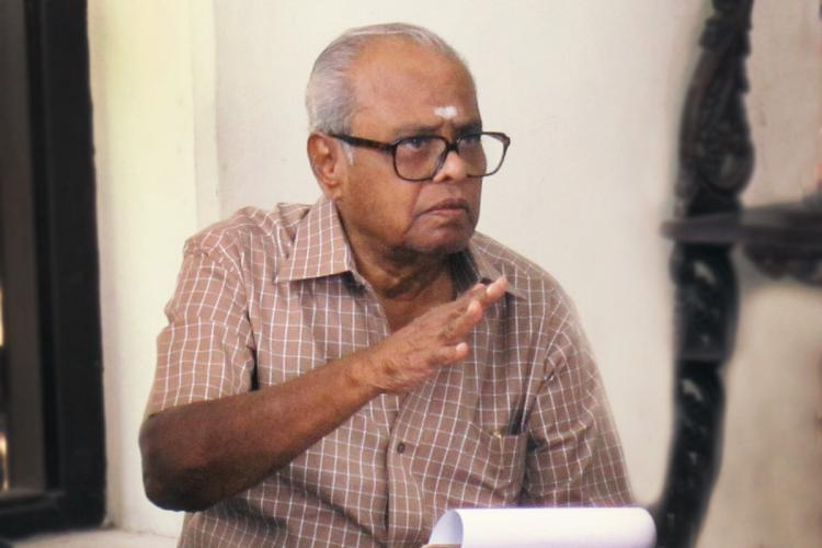 Tamil director K Balachander in Kavithalaya