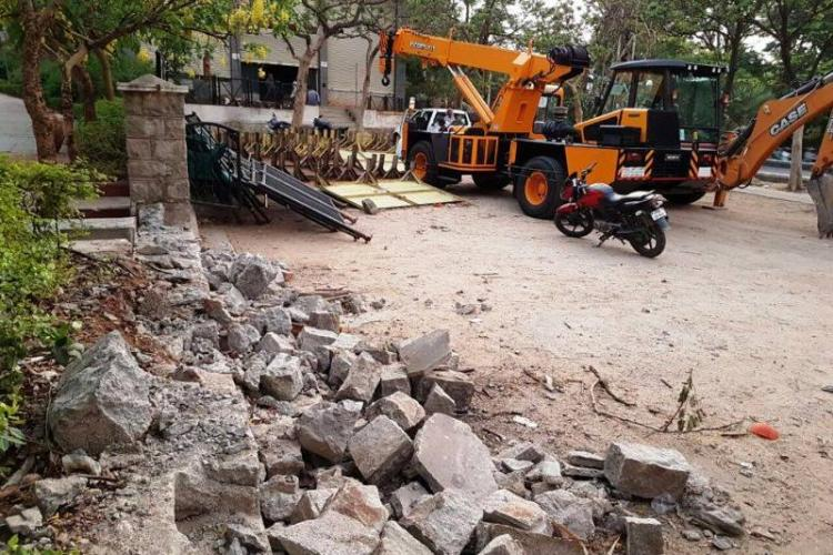 Hyderabad activists cry foul as GHMC demolishes KBR Park wall