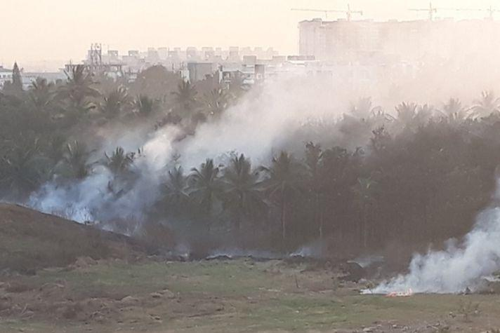 Fire in compost plant again Bengaluru residents worry about potential disaster