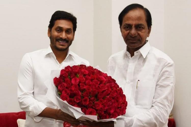 Earlier Andhra CM YS Jagan Mohan Reddy met his counterpart Telangana CM KCR