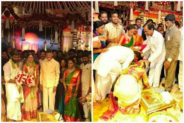 KCR and Naidu attend wedding of son of Paritala Ravi the man who inspired Raktha Charithra