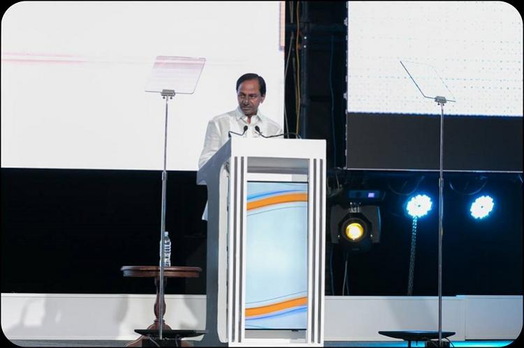 Telangana attracted 17 billion in investment over 3 years says CM KCR at GES