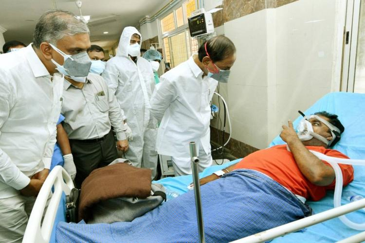 KCR interacting with a COVID-19 patient