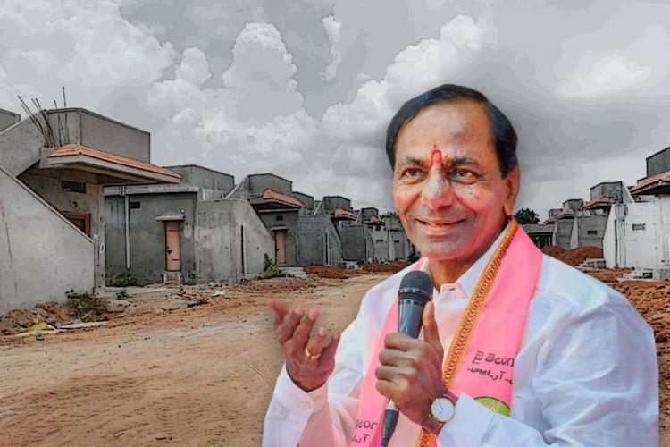 CM KCR and the under construction houses in Chintamadaka