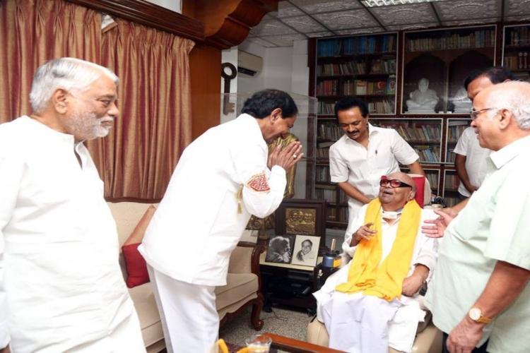 Telangana CM KCR to fly to Chennai to pay tribute to late DMK president Karunanidhi