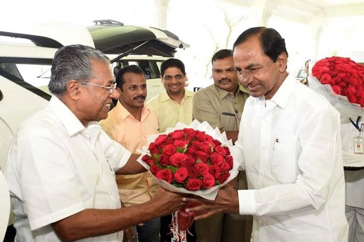 KCR gets praised by Kerala CM for welfare schemes but also criticized for culture protection