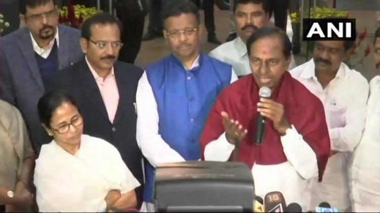 KCRs Federal Front Telangana CM meets Mamata Banerjee yet again