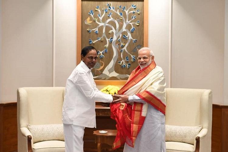 Telangana CM KCR meets PM Modi Seeks nod for quota Bill land for new secretariat