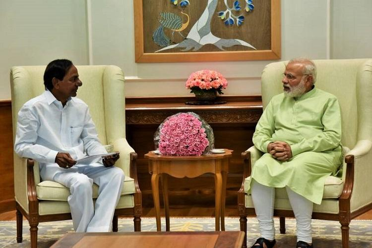 Telangana CM KCR meets Modi seeks Centres nod for Muslim quota bill