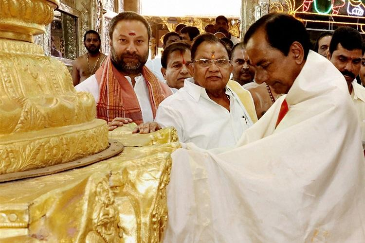 Activists drag KCR to court over public money being used for donating gold to temple