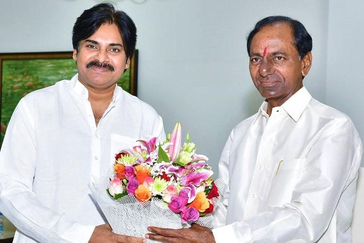 Pawan Kalyan meets Telangana CM KCR TRS working prez KTR in Hyderabad