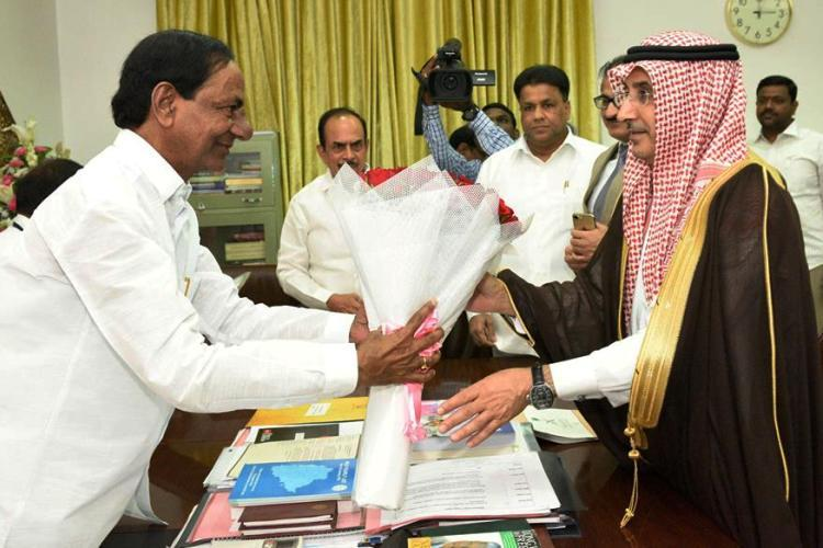 With nearly 300000 people from Telangana in Saudi KCR seeks Consulate in Hyderabad