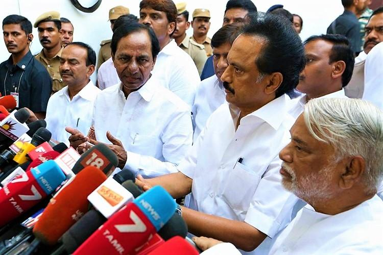 Andhra CM is my best friend not averse to Congress in Federal Front says KCR