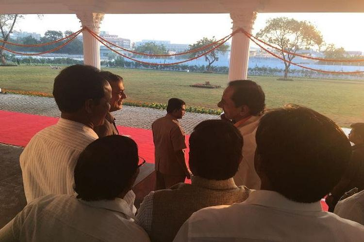 KCR moves into multi-crore bungalow but where are the 2BHK houses for the poor
