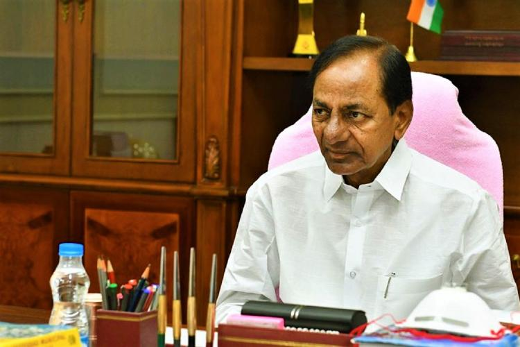 Telangana Chief Minister K Chandrasekhar Rao addresses a meeting