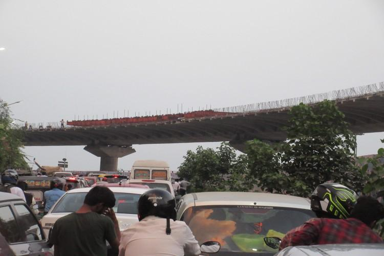 Facing traffic woes Vijayawada residents urge early completion of Kanaka Durga flyover