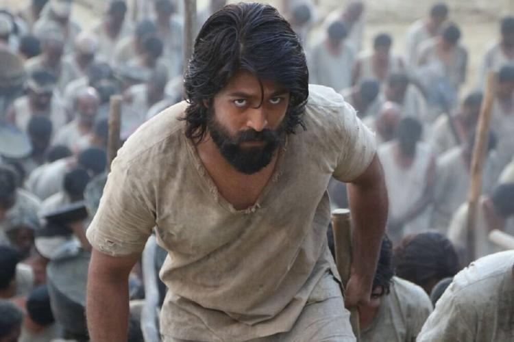 Yash as Rocky from KGF in the mines