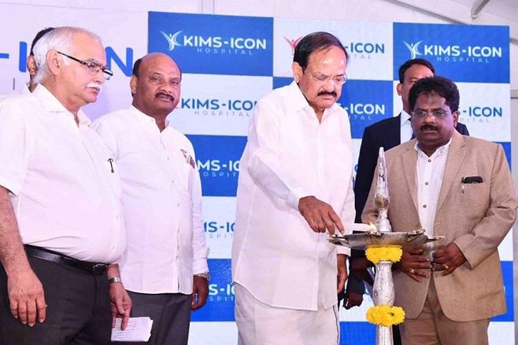 KIMS Hospitals opens in Vizag VP Venkaiah Naidu inaugurates new facility